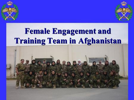 Female Engagement and Training Team in Afghanistan.