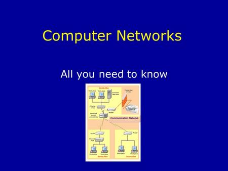 Computer Networks All you need to know. What is a computer network? Two or more computers connected together so that they can communicate with each other.
