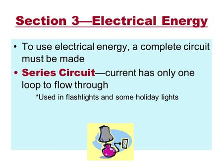 Section 3—Electrical Energy