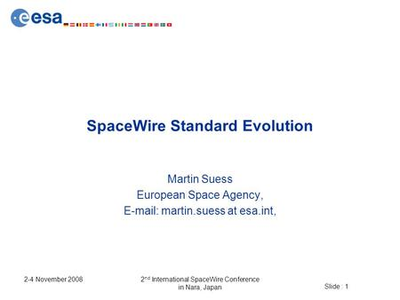 SpaceWire Standard Evolution