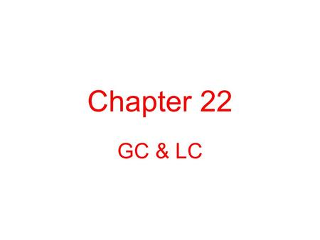 Chapter 22 GC & LC. 22.1 Gas Chromatography 1.Schematic diagram.