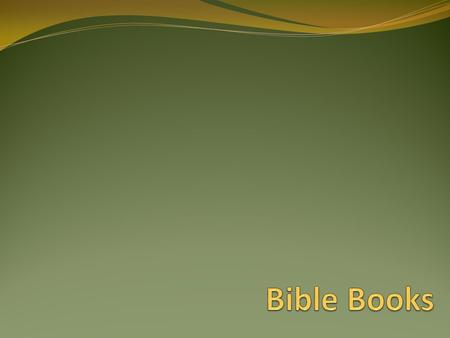 Bible Books.