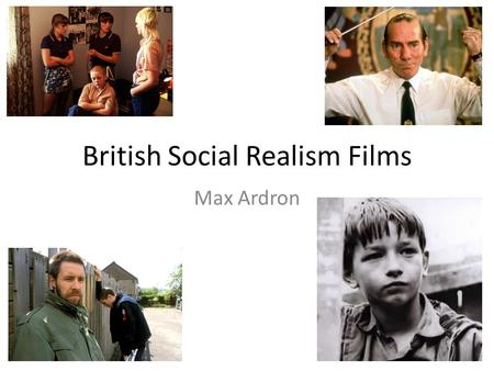 British Social Realism: Films by Terence Davies, Mike Leigh and Ken Loach (55+)