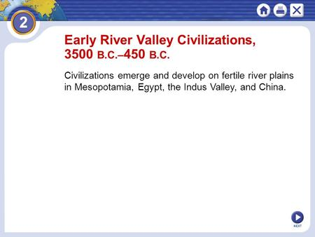 Chapter 2 Early River Valley Civilizations 3500 B C 450