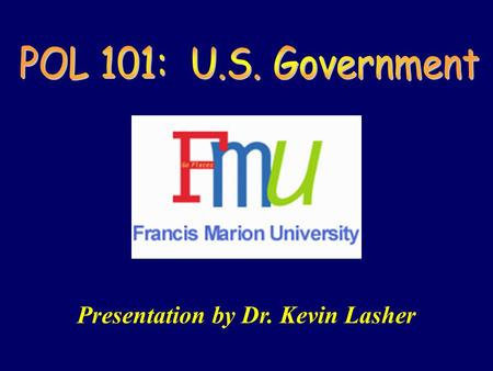 Presentation by Dr. Kevin Lasher