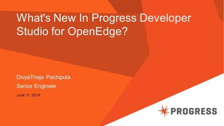 What's New In Progress Developer Studio for OpenEdge?