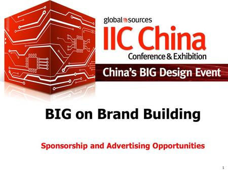1 BIG on Brand Building Sponsorship and Advertising Opportunities.