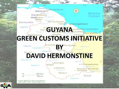 GUYANA GREEN CUSTOMS INITIATIVE BY DAVID HERMONSTINE.