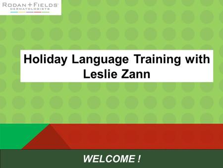 Holiday Language Training with Leslie Zann