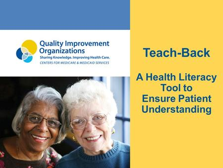 A Health Literacy Tool to Ensure Patient Understanding