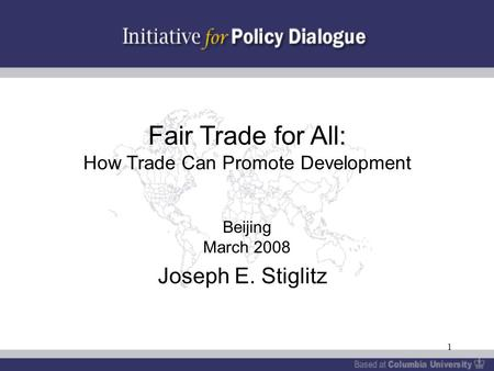WHY TRADE SHOULD BE FAIRER ? (North/South America)?