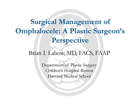 Surgical Management of Omphalocele: A Plastic Surgeon's Perspective