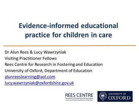 Evidence-informed educational practice for children in care