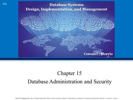 Chapter 15 Database Administration and Security