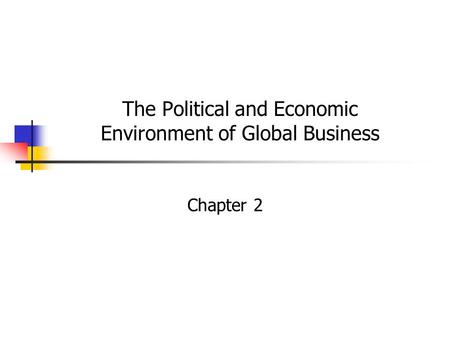 regulatory environment of international business