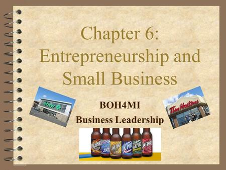 Chapter 6: Entrepreneurship and Small Business