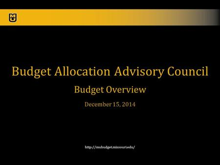 1  Budget Allocation Advisory Council Budget Overview December 15, 2014.