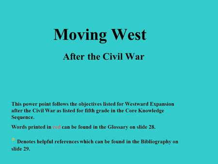 After civil essay expansion war westward