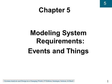 Modeling System Requirements: