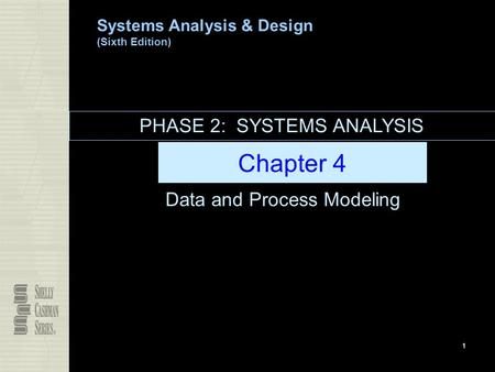 Systems Analysis & Design (Sixth Edition) 1 Chapter 4 Data and Process Modeling PHASE 2: SYSTEMS ANALYSIS.