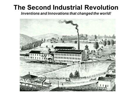 Economic Changes during Industrial Revolution