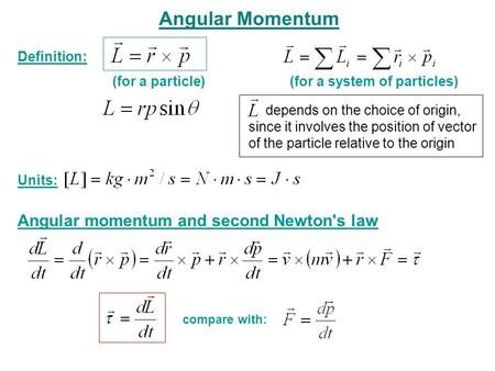 angular momentum definition pdf