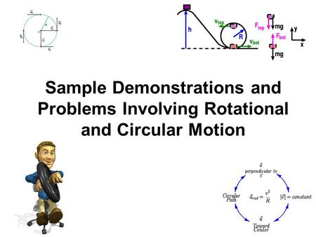 Sample Demonstrations and Problems Involving Rotational and Circular Motion.