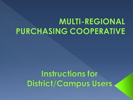 DISTRICT ONLY CONTACT: The new MRPC program is a single database designed to be accessed by ALL users within your district. When you receive the program.
