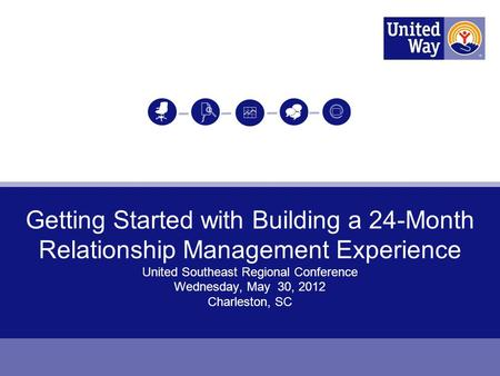 Getting Started with Building a 24-Month Relationship Management Experience United Southeast Regional Conference Wednesday, May 30, 2012 Charleston, SC.