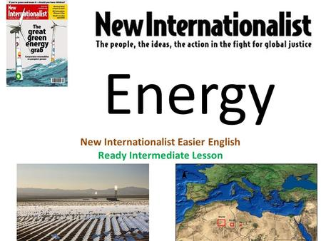 Energy New Internationalist Easier English Ready Intermediate Lesson.