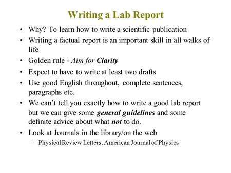 Write my how to write lab report