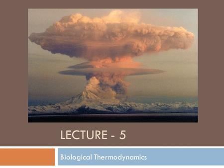 LECTURE - 5 Biological Thermodynamics. Outline  Proteins Continued  Amino Acid Chemistry  Tertiary & Quaternary Structure  Biological Thermodynamics.