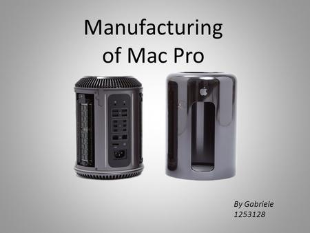 Manufacturing of Mac Pro By Gabriele 1253128. Deep draw stamping. The enclosure is drawn through a series of dies that progressively stretch the aluminum.