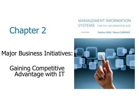 Chapter 2 Major Business Initiatives: Gaining Competitive Advantage with IT.