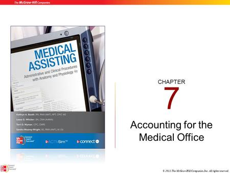 CHAPTER © 2011 The McGraw-Hill Companies, Inc. All rights reserved. 7 Accounting for the Medical Office.