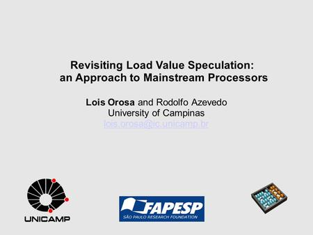 Revisiting Load Value Speculation: