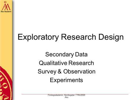 Secondary qualitative research