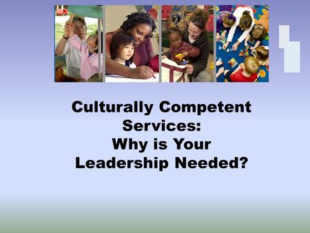 Culturally Competent Services: Why is Your Leadership Needed?