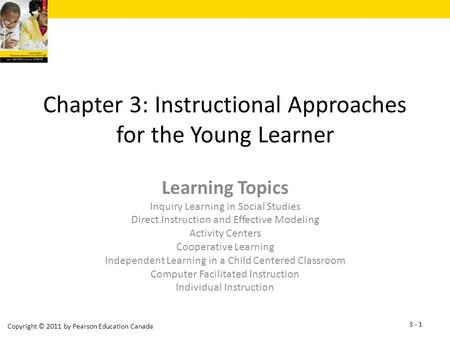 Chapter 3: Instructional Approaches for the Young Learner