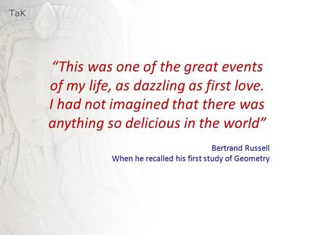 "TaK ""This was one of the great events of my life, as dazzling as first love. I had not imagined that there was anything so delicious in the world"" Bertrand."