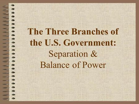 The Three Branches of the U. S