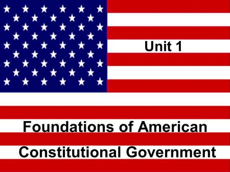 essays foundations american constitutional government