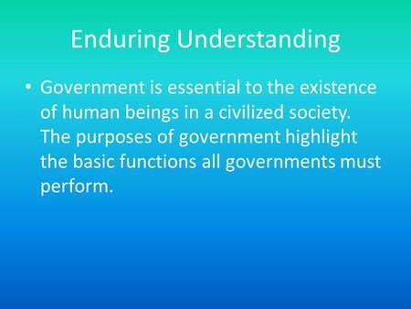 functions of government in society