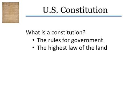 What is a constitution? The rules for government