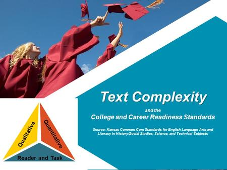 Text Complexity and the College and Career Readiness Standards Source: Kansas Common Core Standards for English Language Arts and Literacy in History/Social.