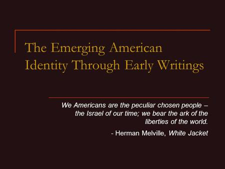 immigrants and the history of the emerging american identity 2015-12-2 at the turn of the twentieth century, non-english-speaking immigrants flooded american shores, setting off a wave of nativistic fears.