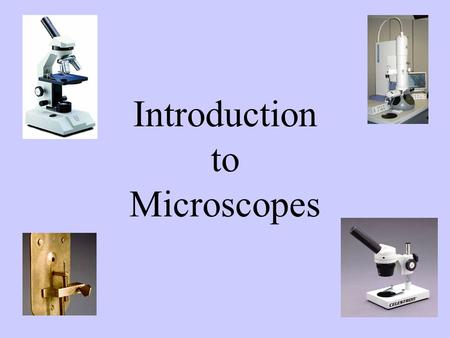 Introduction to Microscopes Agenda Read and Record Objectives History of Microscopes Parts of a Microscope Preparing Lab Notebook Biodiversity of Life.