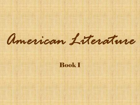 brief survey of american literature A brief guide to american literary periods, including the colonial, renaissance, beat, and contemporary, along with examples a brief overview of american literary periods this era in american literature is responsible for notable first works.