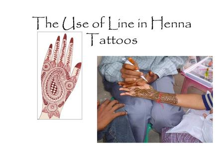 The Use of Line in Henna Tattoos