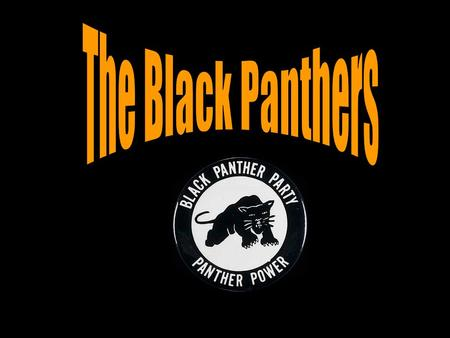 The Black Panthers. Original six Black Panthers (1966) Elbert Big Man Howard, Huey P. Newton (Defense Minister), Sherman Forte, Bobby Seale (Chairman),